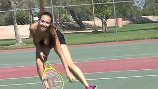 Jenna 01 - tennis strip and insertion