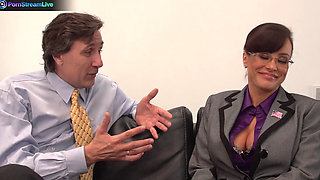 Horny huge titted Lisa Ann hardcore fuck with her boss