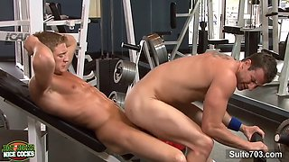 sexy jocks fucking in the gym