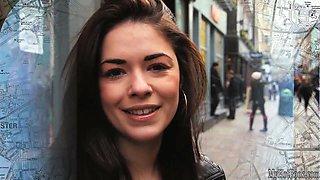 Ava Dalush has long brown hair and fair skin that make an attractive