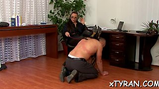 mistress gets feet licked
