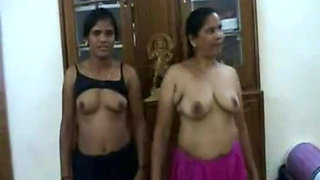 maid mom and daughter strip in front of owner
