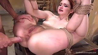 curvaceous ginger violet monroe gets her sinful holes punished