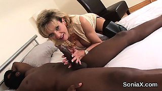 Cheating british mature gill ellis pops out her massive pupp