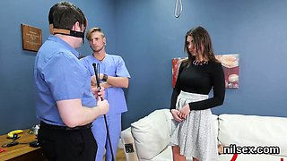 Nasty teenie was brought in anal assylum for uninhibited the