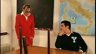 Ajx creampie teacher and two younger students