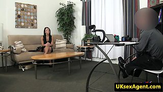 Real casting babe fucked by midget sex agent