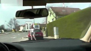 FUN MOVIES Sexy Amateur Teen in the car