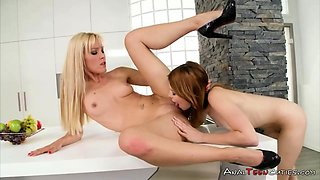 Sexy lesbians enjoy clit licking and fingering