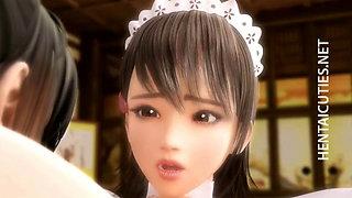 Busty 3D hentai maid squirt milk