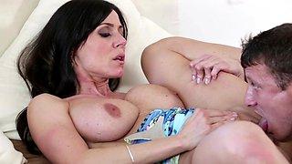 Huge cock for a horny pornstar