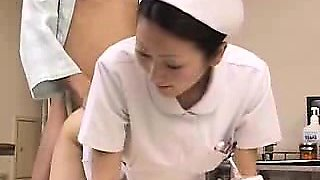 Striking Asian nurse can't get enough of a thick rod fillin