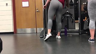 Spying on college girl asses in gym
