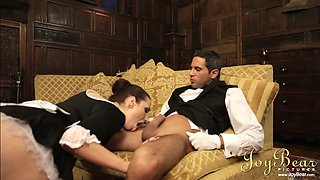 Bootylicious maid rides her employer's cock reverse cowgirl style