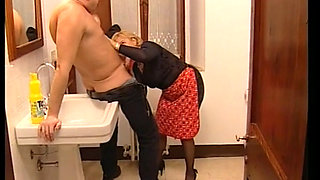 Horny granny getting fucked