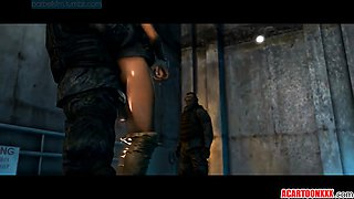 Round ass and big tits Lara Croft fucked raw