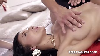 gorgeous russian and czech duet of vanessa vaughn and belle claire in threeway