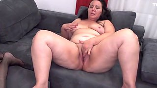 Mature lesbian family with moms and granny
