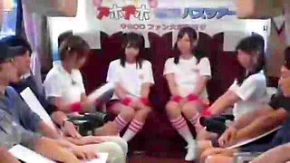 Delightful Japanese teens confessing their passion for cock