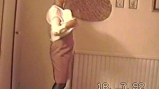 Retro self filmed striptease from 1992