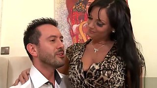 Gorgeous Milf Secretary Devours her Bosses thick Cock