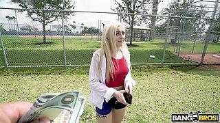 blonde teen tastes bbc in the bang bus