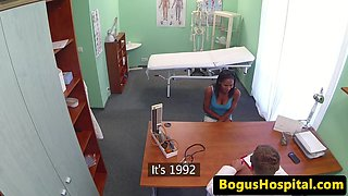 Ebony euro patient pussylicking nurse