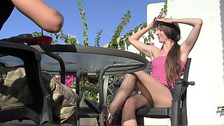 Leila in hot amateur girl gives a nice blowjob to her lover