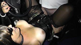 Dogging car sex gangbangs with Slutwife Marion