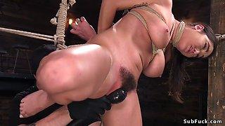 Hairy pussy busty slave fucked