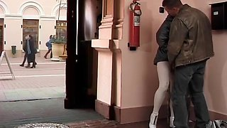 Horny couple loves extreme wild anal sex on public places