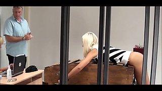 Ass punishment for blonde girl