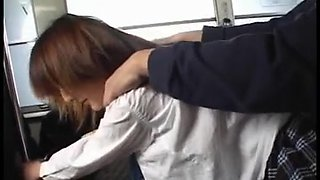 japanese girls in the bus