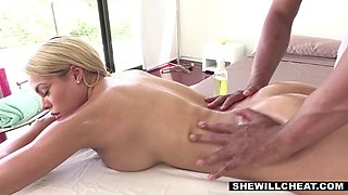 buxom latina wife cheats with the gifted black masseur