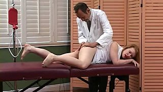 Cmnf spanked by the doctor ass up!