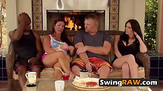 Exquisite swinger ladies fuck hard in group sex in the red orgy room. new episodes of swingraw.com