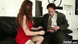 Big load of dick pleases a cute girl
