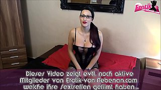 german young female teacher with glasses big tits lession