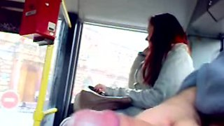 in bus masturbation