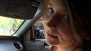 Boyfriend Stops To Fuck Skyye Charming Inside His Car
