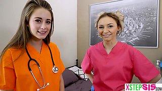 Nurse stepsister teen cured stepbrothers hard on dick