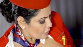 Qatar Airways crew sex scandal on board.....beautiful MILF crew