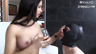 mistress mira cuckold gets satisfaction from her slave