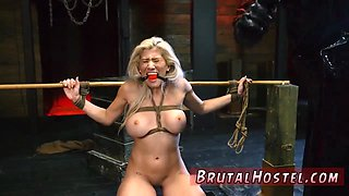 Bdsm dungeon and gangbang bondage Bigbreasted blond bombshell Cristi Ann is on vacation