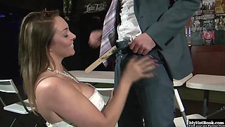 Victoria Summers is a blonde bride with big tits and a hot body.