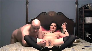 Milf Smokes While Getting Her Hot Delicious Pussy Eaten