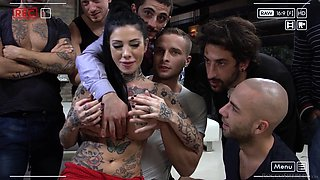 megan inky versus six horny guys @ rocco siffredi hard academy #04