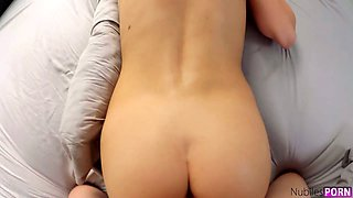 Wench Lily Adams takes off her yoga pants and teases with yummy anus and pussy