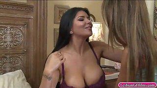 romi rain and ayumi anime enjoy oral sex in the bedroom