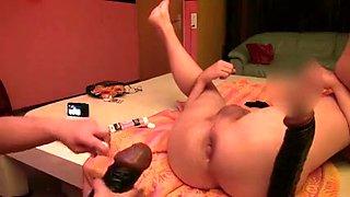 Horny homemade Strapon, Fetish porn clip